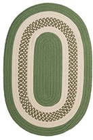"""Colonial Mills Crescent Green Oval 2'0""""x3'0"""" Braided Area Rug"""