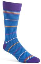 Lorenzo Uomo Men's Stripe Crew Socks