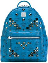 MCM logo print studded backpack - women - Calf Leather/metal - One Size
