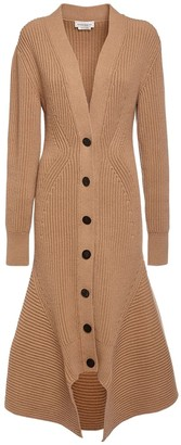 Alexander McQueen Wool & Cashmere Rib Knit Long Cardigan