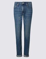 M&S Collection Boyfriend Mid Rise Slim Leg Jeans