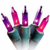 Asstd National Brand Set Of 50 Pink Purple Princess Mini Christmas Lights 2.5 Spacing with Green Wire