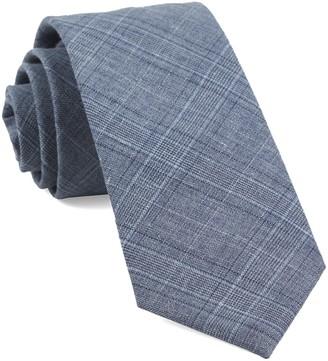 Tie Bar Smithtown Plaid Grey Tie
