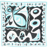 Emilio Pucci Abstract Print Square Scarf
