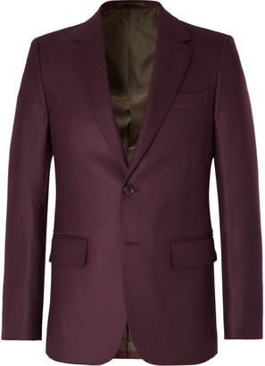 Wacko Maria Burgundy Slim-Fit Wool-Twill Suit Jacket