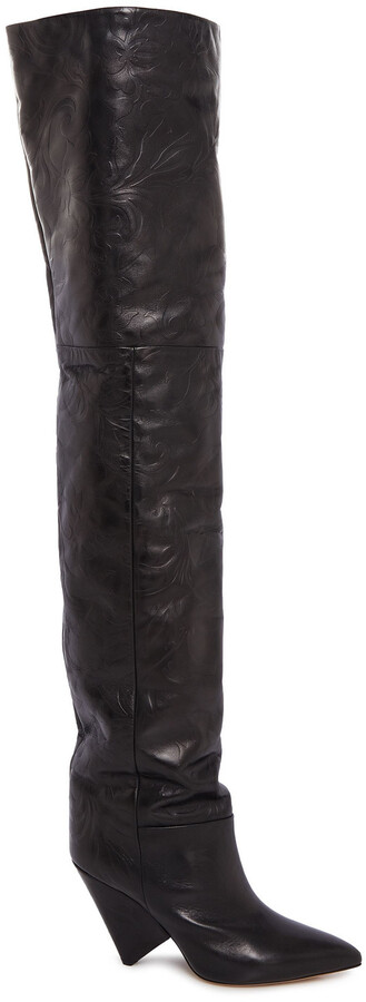Isabel Marant Leather Thigh Boots