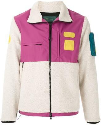 Piet Fleece color block jacket