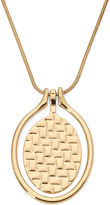 Liz Claiborne Gold-Tone Orbital Pendant Necklace