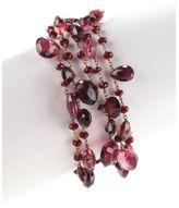 Anthony Nak 18 KT Yellow Gold Ruby Pink Tourmaline Garnet Multistrand Bracelet