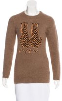 Mulberry Angora Intarsia Sweater