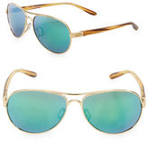 Oakley 56mm Tie Breaker Rose Goldtone Tortoise Aviator Sunglasses