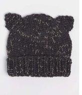 Dorothy Perkins Womens Charcoal Cat Ears Beanie Hat- Grey