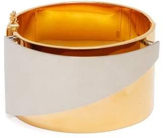 Alexander McQueen Layered Brass Cuff - Womens - Silver