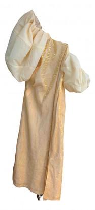 REJINA PYO Yellow Polyester Dresses