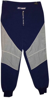 Ivy Park Blue Cloth Trousers for Women