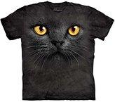 The Mountain Big Face Black Cat T-Shirt
