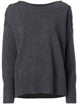 Vanessa Bruno button shoulder jumper - women - Wool/Yak - S