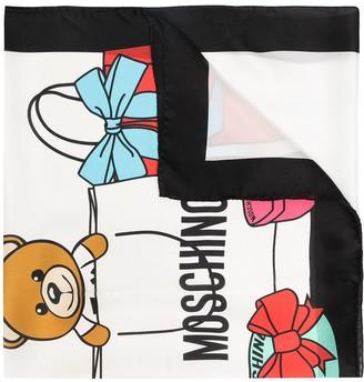 Moschino Graphic-Print Silk Scarf