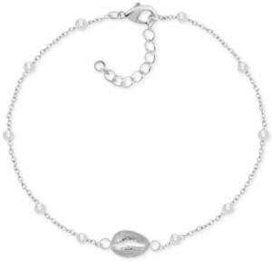 Kona Bay Puka Shell Ankle Bracelet in Fine Silver-Plate