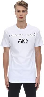 Philipp Plein Embroidered Cotton Jersey T-shirt