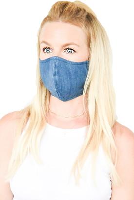 Ruby Grey Adjustable Contoured Cotton Denim Face Mask