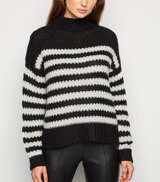 New Look Urban Bliss Stripe Waffle Knit Jumper