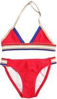 Little Marc Jacobs Lycra Bikini W/ Lurex Stripes