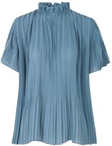 Samsoe & Samsoe Samsoe Samsoe Lady Short Sleeve Blouse in Blue Mirage
