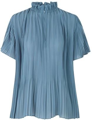 Samsoe & Samsoe Lady Short Sleeve Blouse in Blue Mirage