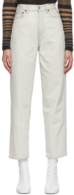Acne Studios Beige Relaxed Tapered Jeans