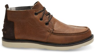 Toms Waterproof Brown Pull Up Leather Men's Chukka Boots