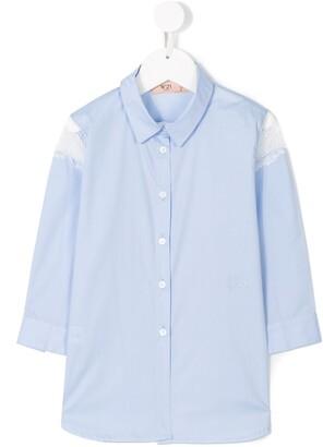 No.21 Kids lace insert shirt