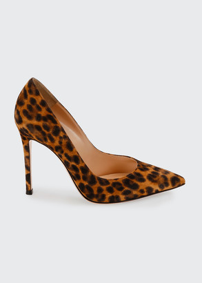 Gianvito Rossi Leopard-Print Suede Stiletto Pumps