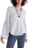 Madewell Women's Bell Sleeve Plaid Shirt