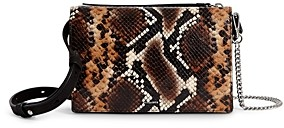 AllSaints Fetch Snake-Print Chain Wallet