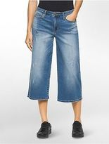 Calvin Klein Womens Boyfriend Fit Denim Culottes