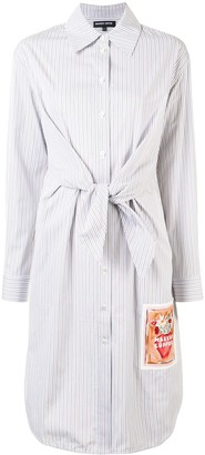 Markus Lupfer Paige striped cotton shirt dress