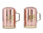 Old Dutch Hammered Copper & Brass Salt & Pepper Shaker Set