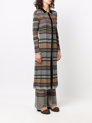 M Missoni Checked Knitted Cardi-Coat