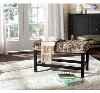 Bay Isle Home Willow Solid Wood Accent Stool
