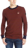 G Star Men's Classic Kylio Submarine Stripe Long-Sleeve Waffle Shirt