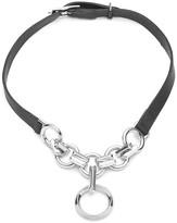 "Eddie Borgo O-Ring Leather Choker Necklace, 16"""