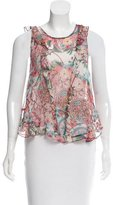 Zimmermann Sleeveless Floral Print Top