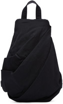 Yohji Yamamoto Black Draped Backpack