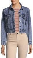 Alice + Olivia Women's Chloe Cropped Denim Jacket