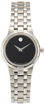 Movado 0606204 Silver-Tone & Black Watch