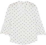 Splendid Polka-Dot Gauze Blouse