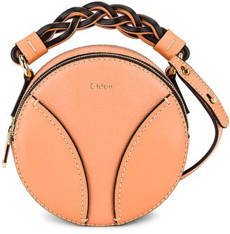Chloé Mini Daria Round Bag in Peach Bloom | FWRD