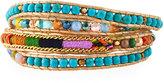 Nakamol Beaded Wrap Bracelet, Turquoise