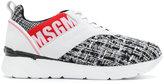 MSGM bouclé tweed sneakers